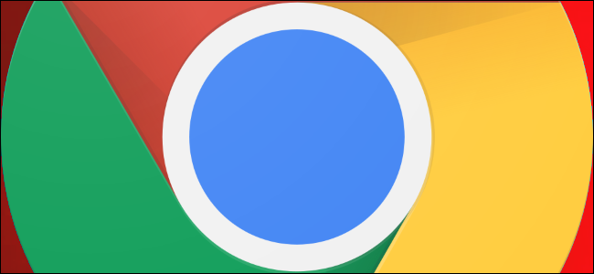 Google Chrome logo with a red background.