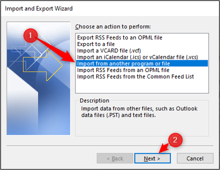 Import contacts from other file