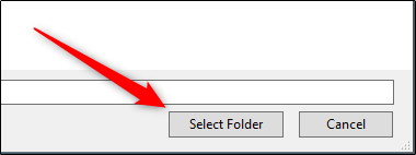 select folder in explorer