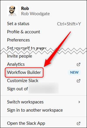 "Click ""Workflow Builder."""