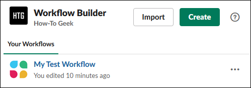 "The ""Workflow Builder"" panel."