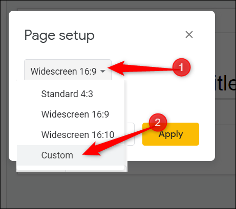 """Click the dropdown menu and click """"Custom"""" from the list below."""