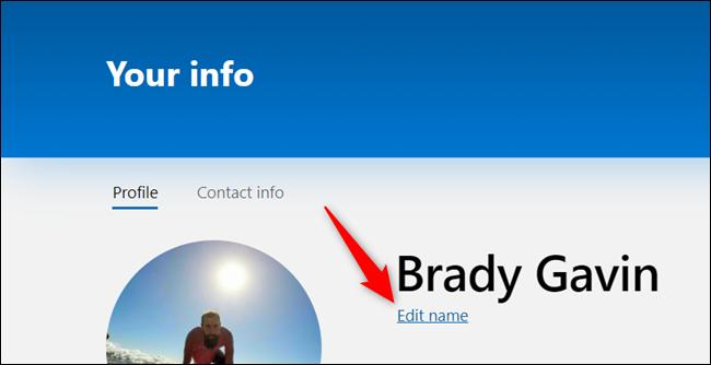 "Click ""Edit name."""