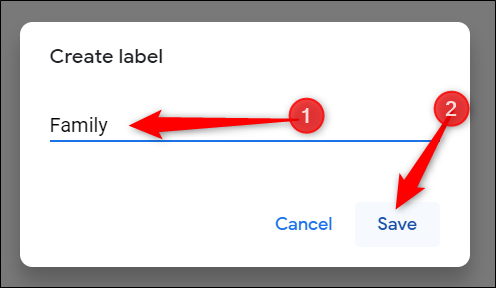 """Enter a descriptive label for the group and click """"Save"""" when you finish."""