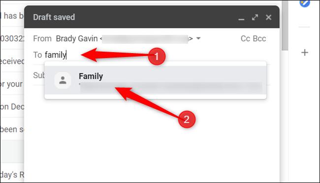 Comience a escribir el nombre de la etiqueta y haga clic en él cuando aparezca a continuación.