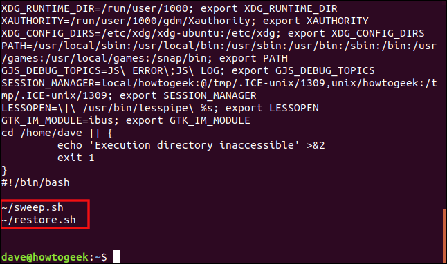 """Output from the """"-c 13"""" command in a terminal window."""