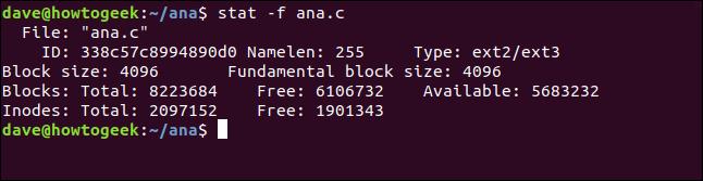 stat -f ana.c ina terminal window