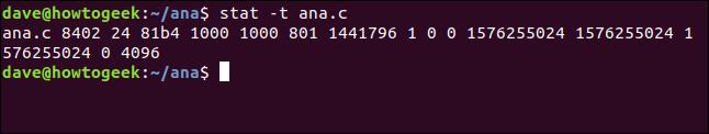 stat -t ana.cin a terminal window