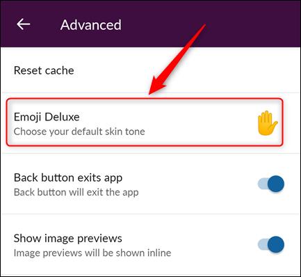 "The ""Emoji Deluxe"" option"