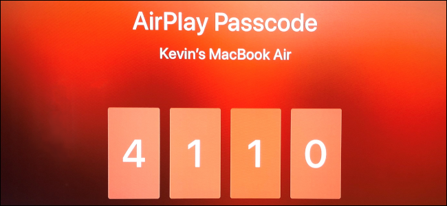 AirPlay Passcode Apple TV