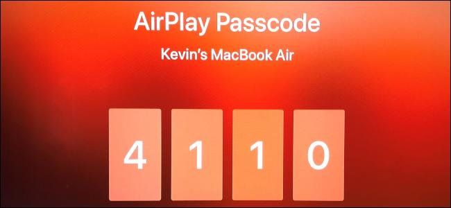 AirPlay Passcode Apple TV
