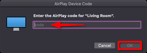 Apple TV AirPlay Device Code Mac