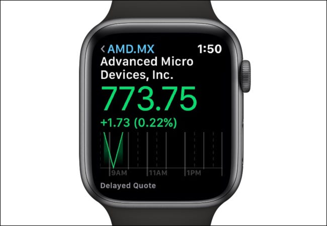 Apple Watch AMD Stock