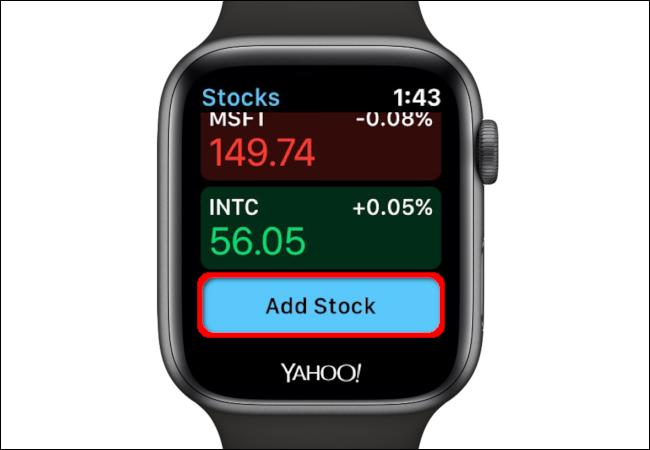 Apple Watch Add Stock