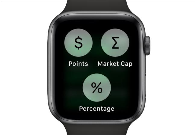 Apple Watch Customize Stock Data