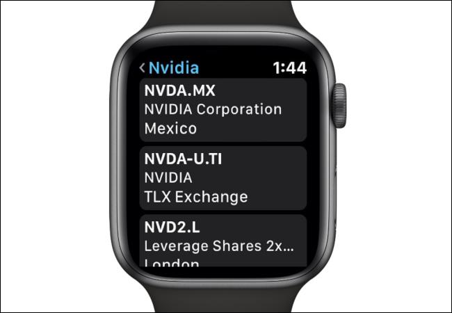 Apple Watch Nvidia Stock