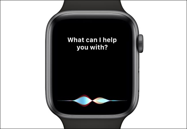 Siri asks, What can I help you with?