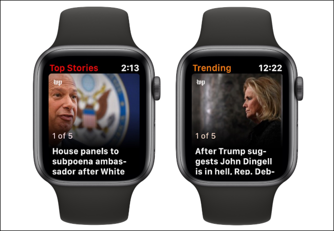 Apple Watch Top Stories Tending News