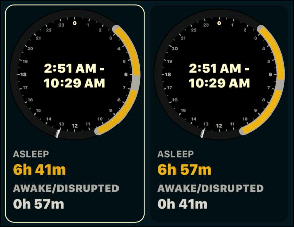 """The """"Asleep"""" calibration under """"Clock."""""""