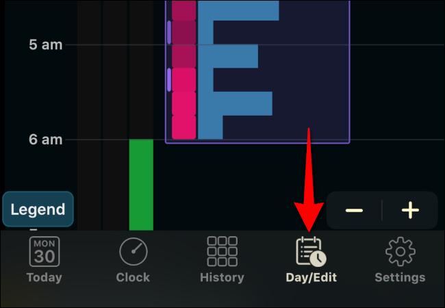 "Tap ""Day/Edit."""