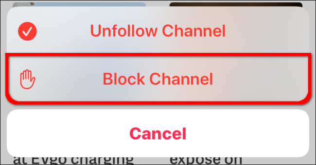 Block Channel Overlay