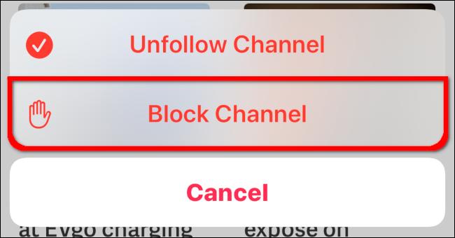 Block Channel Overlay