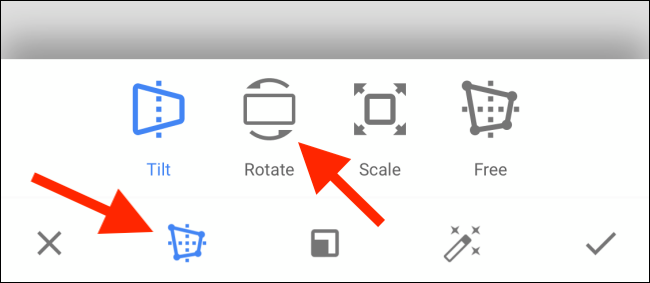 Select the Rotate button.