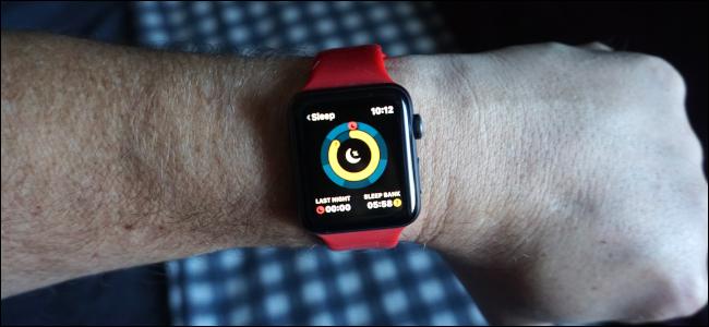 A Sleep app on an Apple Watch.