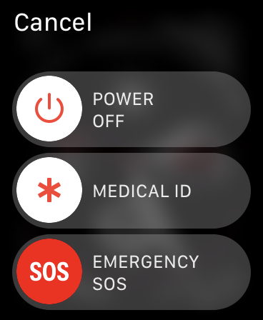 Control deslizante SOS de emergencia del Apple Watch