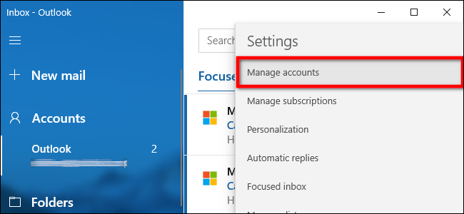 Mail App Manage Accounts