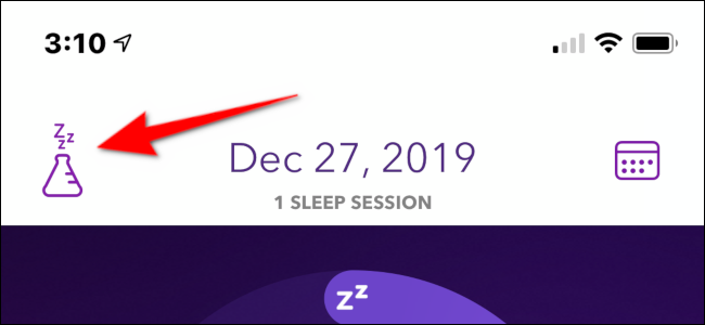 Tap the sleep potion icon to get more features.