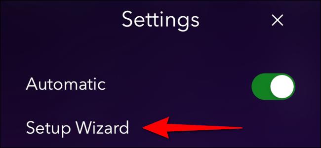 """Tap """"Setup Wizard."""""""