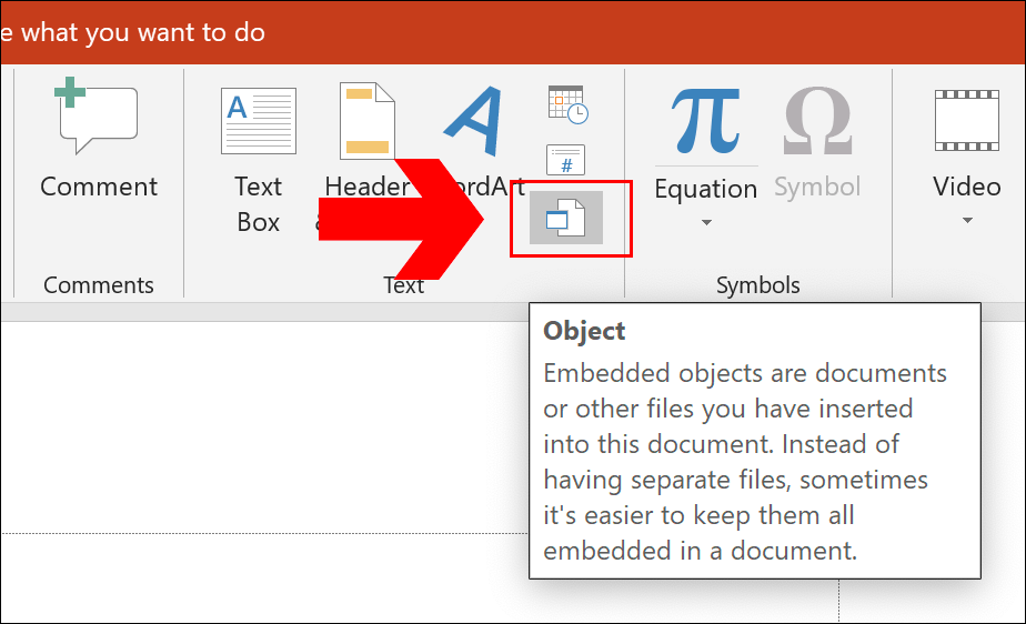 To insert a link to a PDF document into PowerPoint, click Insert > Object