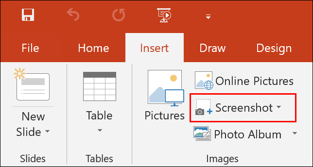 To take a screenshot in PowerPoint, click Insert > Screenshot