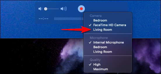 QuickTime Select Apple TV Device