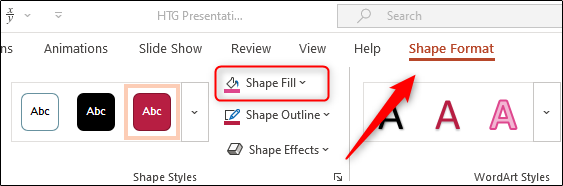 Shape fill option
