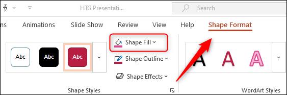 Shape fill option