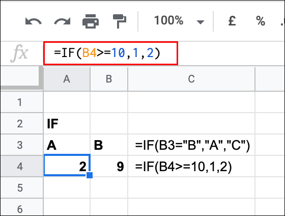 An IF statement being used in Google Sheets, returning a FALSE result