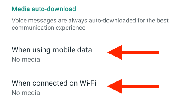 Tap on the mobile data or wi-fi options