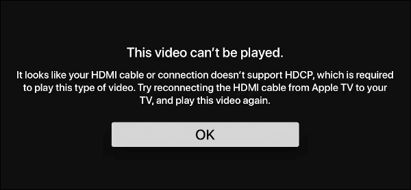 This Video Cant Be Played warning
