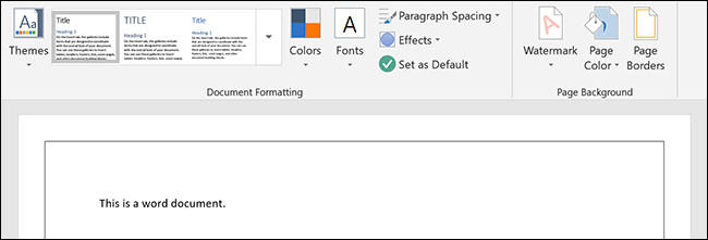 A page border applied to a Microsoft Word document