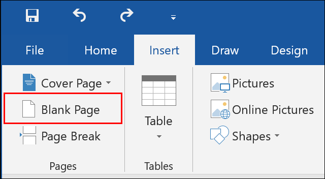 Click Insert > Blank Page in Microsoft Word to insert a new, blank page to your document