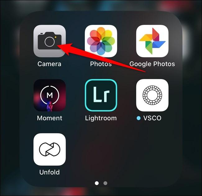 Apple iPhone Open Camera App