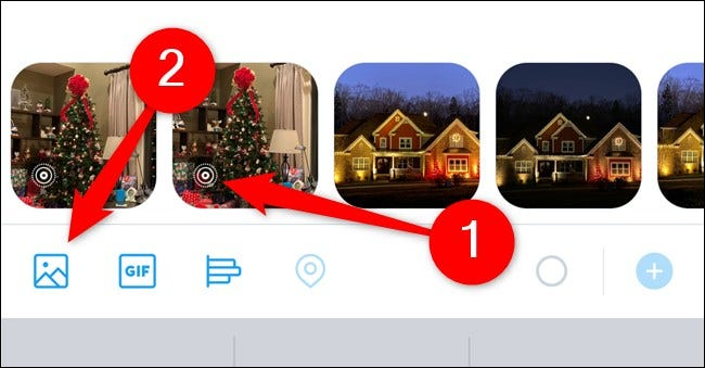 Apple iPhone Twitter App Tap Live Photo or Select Galaxy Button and Choose Live Photo