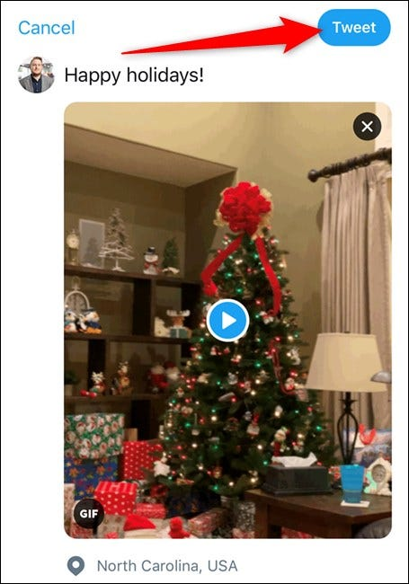 Apple iPhone Twitter App Tap Tweet Button