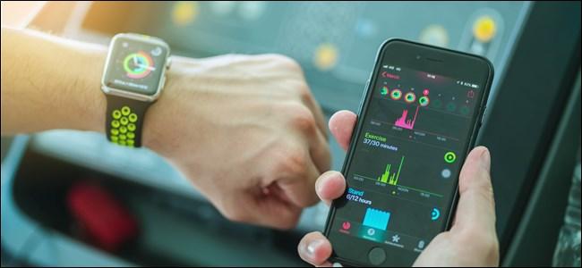 Comparación de Apple Watch con datos de iPhone