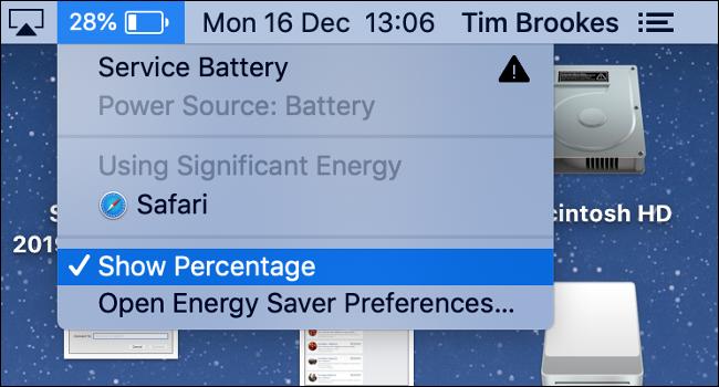 Enable Battery Percentage Indicator