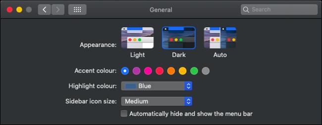 Enable Dark Mode in macOS