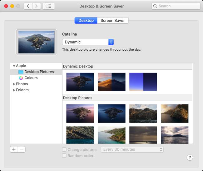 Set Desktop Image and Screen Saver in macOS