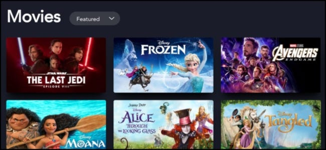 Disney+ Movie Library